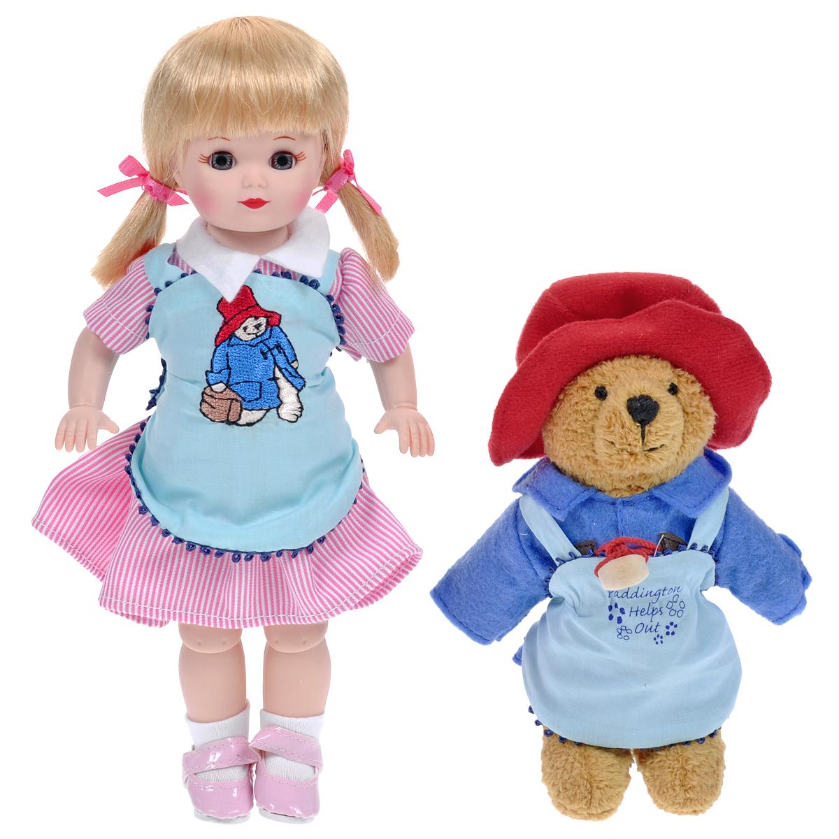 Madame Alexander Пупс Мэри и медвежонок Паддингтон65065Кукла Madame Alexander Мэри и медвежонок Паддингтон станет прекрасным украшением любой коллекции. Кукла Мэри с серыми глазками и светлыми волосами одета в бело-розовое полосатое платье с белым воротничком, поверх платья - нежно-голубой передник с вышитым мишкой. На ее ножках - белые носочки и лаковые розовые туфельки без каблучка на ремешках. В комплект с куклой входит ее верный друг Паддингтон - забавный медвежонок в красной шапочке, синем пальто на деревянных пуговицах и голубом фартучке с вышитой надписью Паддингтон помогает друзьям. Реалистичные глазки Мэри закрываются, если положить ее на спину.