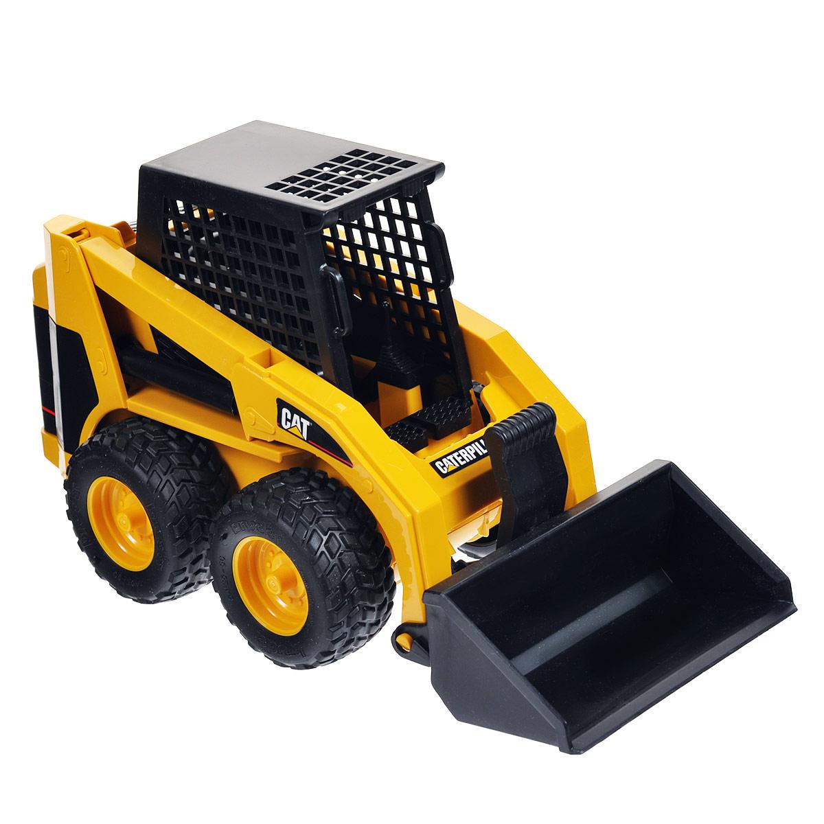 Bruder Мини–погрузчик колесный Cat02-431Колесный мини-погрузчик Bruder Cat, выполненный из прочного материала, отлично подойдет ребенку для различных игр. Машина является уменьшенной копией экскаватора-погрузчика фирмы Cat. Мини-погрузчик часто используется для уборки улиц. Ковш регулируется по высоте и меняет угол наклона. Есть возможность заменить ковш на другие аксессуары (не входят в комплект). Колеса машины прорезинены, что обеспечивает ему дополнительную устойчивость и хорошее сцепление с дорогой. С этим реалистично выполненным погрузчиком ваш малыш часами будет занят игрой.