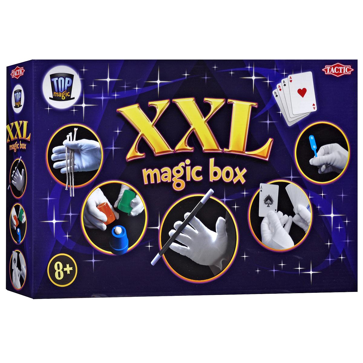 Набор для фокусов Фокусы XXL40167Набор для фокусов Фокусы XXL поможет вашему ребенку стать настоящим иллюзионистом. С помощью него ребенок сможет показывать фокусы своим друзьям, каждый раз удивляя их своими магическими способностями. Набор содержит все необходимое: реквизиты для показа 54 фокусов, в том числе волшебную палочку и колоду карт, и подробную иллюстрированную брошюру на русском языке. Подарите вашему ребенку прекрасную возможность окунуться в чарующий мир волшебства.