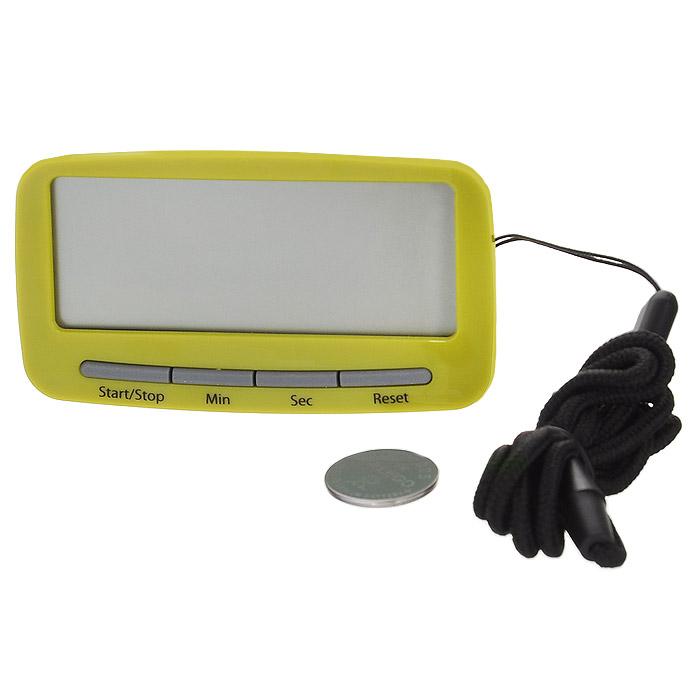 Таймер-часы кухонные Joseph Joseph Clip Timer, цвет: зеленый40081Кухонные таймер-часы Joseph Joseph Clip Timer изготовлены из пластика, оснащены большим электронным дисплеем. С помощью клипсы с задней стороны корпуса таймер можно прикрепить к фартуку или одежде. Магнит позволяет прикрепить таймер к холодильнику. С помощью длинного шнурка его можно повесить на шею (шнурок съемный). Также таймер можно просто поставить на стол. Теперь вы сможете без труда вскипятить молоко, отварить пельмени или вовремя вынуть из духовки аппетитный пирог, а, прикрепив к одежде или повесив на шею, сразу же услышите сигнал. Максимальное время установки таймера: 9 часов 59 минут. Таймер работает от 1 батарейки мощностью 3V типа CR2025 (не входит в комплект).