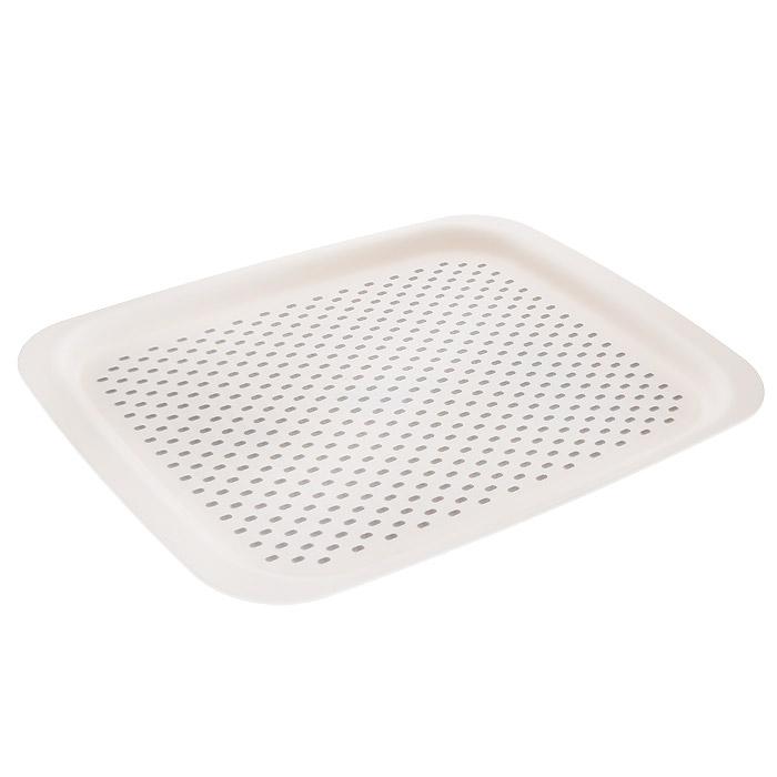 Поднос для сервировки Joseph Joseph Grip Tray, цвет: белый, 45 х 34,5 см70082Поднос для сервировки Joseph Joseph Grip Tray изготовлен из прочного пищевого пластика, устойчивого к температуре до +80°С. Благодаря прорезиненной рельефной поверхности на подносе устойчиво держится любая посуда, будь то кружка с чаем или тарелка с супом. Благодаря широким бортикам, поднос удобно переносить. Не рекомендуется мыть в посудомоечной машине.
