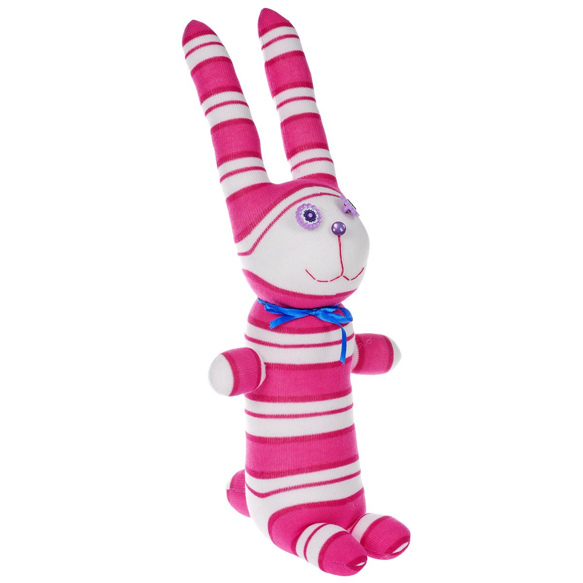 Игрушка Носкитос. Заяц Ромашка - Ручная авторская работа. НОС180614-56НОС180614-56