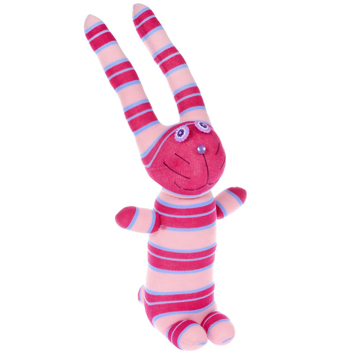 Игрушка Носкитос. Заяц Ромашка - Ручная авторская работа. НОС180614-59НОС180614-59