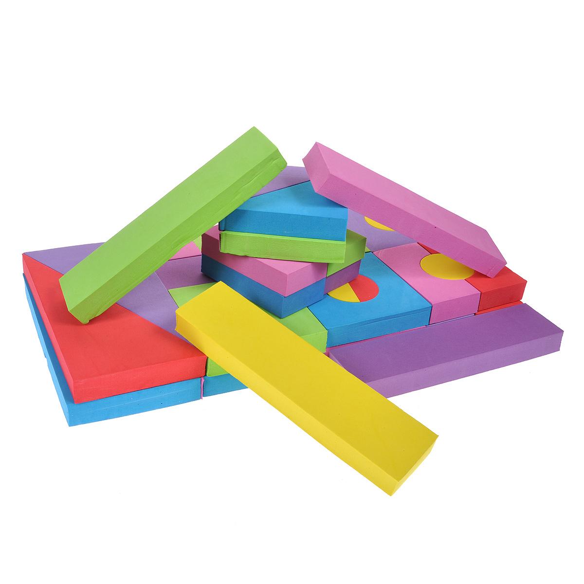 WSBD World Мягкий конструктор для малышей, 48 элементовC869802Мягкий конструктор не позволит скучать вашему малышу. Он включает 48 элементов разной формы и цветов, из которых малыш сможет собрать большую конструкцию или все, что пожелает. Мягкий конструктор способствует развитию у ребенка пространственного мышления и геометрических ассоциаций, он учится анализировать и сопоставлять детали. Элементы набора выполнены из вспененного полимера. В комплекте: 48 элементов , а также вставки, использующиеся в некоторых элементах. Элементы набора удобно хранить и переносить в пластиковой сумке на застежке-молнии (входит в набор).