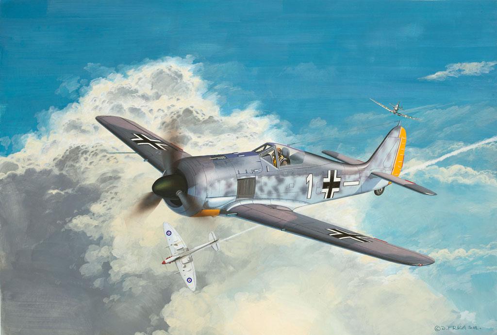 Сборная модель Revell Самолет-истребитель Focke Wulf Fw190-A84917Сборная модель Revell Самолет-истребитель Focke Wulf Fw190-A8 поможет вам и вашему ребенку придумать увлекательное занятие на долгое время. Набор включает в себя 12 пластиковых элементов, из которых можно собрать достоверную уменьшенную копию одноименного самолета. Focke Wulf Fw190-A8 – один из известных немецких самолетов, стоявший на вооружении Люфтваффе во времена Второй Мировой войны. Фокке-Вульф Fw 190 – одноместный поршневой самолет-моноплан с одним двигателем, имевший множество модификаций и дополнений. Также в наборе схематичная инструкция по сборке. Процесс сборки развивает интеллектуальные и инструментальные способности, воображение и конструктивное мышление, а также прививает практические навыки работы со схемами и чертежами. УВАЖАЕМЫЕ КЛИЕНТЫ! Обращаем ваше внимание на тот факт, что элементы для сборки не покрашены. Клей и краски в комплект не входят.
