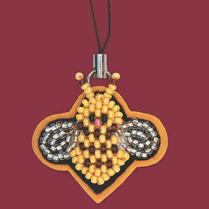 Набор для вышивания Riolis Брелок. Пчелочка, 3,5 х 3 см1440АС