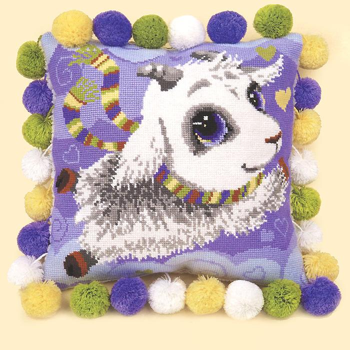 Набор для вышивания подушки Козлик, 30 см х 30 см1453