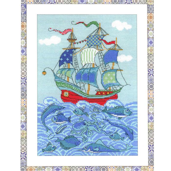 Набор для вышивания Парусник Удача, 21 х 30 см1465