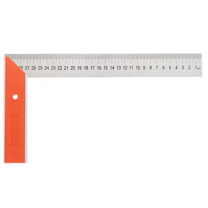 Угольник столяра Truper, 30,5 х 16,6 смEC-12Угольник Truper изготовлен из нержавеющей стали, а ручка из алюминия. С обеих сторон линейки есть гравировка. Угольник станет незаменимым предметом для столярных работ. Длина ручки: 16,6 см.