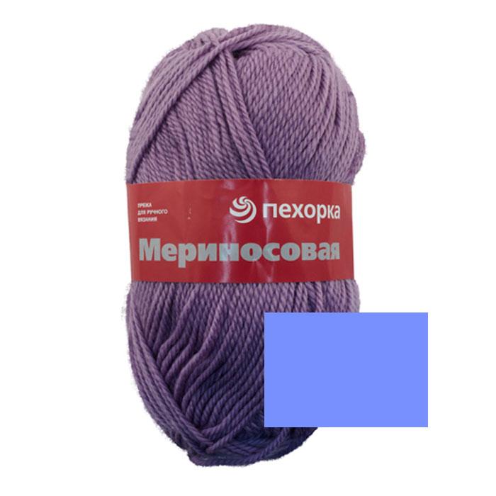 Пряжа для вязания Пехорка Мериносовая, цвет: лесной колокольчик (98), 200 м, 100 г, 10 шт360021_98_98-Лесной колокольч.Пряжа для вязания Пехорка Мериносовая изготовлена из мериносовой шерсти и акрила. Эта полушерстяная пряжа больше подходит для ручного вязания спицами в одну нить. Пряжа мягкая и нежная, оптимальной толщины. С такой пряжей вы сможете связать своими руками необычные, красивые и теплые вещи. Рекомендованные спицы для вязания № 4. Комплектация: 10 мотков. Состав: 50% мериносовая шерсть, 50% акрил.