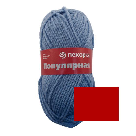 Пряжа для вязания Пехорка Популярная, цвет: красный (06), 133 м, 100 г, 10 шт360031_06_06-КрасныйПряжа для вязания Пехорка Популярная изготовлена из 50% шерсти и 50% акрила. Эта полушерстяная классическая пряжа подходит для ручного вязания. Пряжа предназначена для толстых зимних свитеров, джемперов, шапок, шарфов. Импортная полутонкая шерсть придает изделию из нее следующие свойства: прочность, упругость, высокую износостойкость и теплоизоляционные качества. Благодаря шерсти в составе пряжи, изделия получаются очень теплыми, а процент акрила придает практичности, поэтому вещи из этой пряжи не деформируются после стирки и в процессе носки. Рекомендованы спицы № 6. Комплектация: 10 мотков. Состав: 50% шерсть, 45% акрил, 5% акрил высокообъемный.