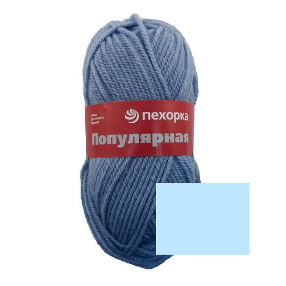 Пряжа для вязания Пехорка Популярная, цвет: незабудка (195), 133 м, 100 г, 10 шт360031_195_195-НезабудкаПряжа для вязания Пехорка Популярная изготовлена из 50% шерсти и 50% акрила. Эта полушерстяная классическая пряжа подходит для ручного вязания. Пряжа предназначена для толстых зимних свитеров, джемперов, шапок, шарфов. Импортная полутонкая шерсть придает изделию из нее следующие свойства: прочность, упругость, высокую износостойкость и теплоизоляционные качества. Благодаря шерсти в составе пряжи, изделия получаются очень теплыми, а процент акрила придает практичности, поэтому вещи из этой пряжи не деформируются после стирки и в процессе носки. Рекомендованы спицы № 6. Комплектация: 10 мотков. Состав: 50% шерсть, 45% акрил, 5% акрил высокообъемный.