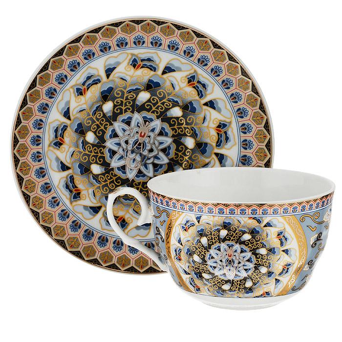 Набор чайный Saguro Перо павлина, 2 предмета543-1581Чайный набор Saguro Перо павлина, выполненный из высококачественного фарфора, состоит из чашки и блюдца. Изделия оформлены изображением павлинов. Элегантный дизайн и совершенные формы предметов набора привлекут к себе внимание и украсят интерьер вашей кухни. Чайный набор Saguro Перо павлина идеально подойдет для сервировки стола и станет отличным подарком к любому празднику. Чайный набор упакован в подарочную прозрачную коробку и перевязан бантиком. Не использовать в микроволновой печи. Не применять абразивные чистящие вещества.