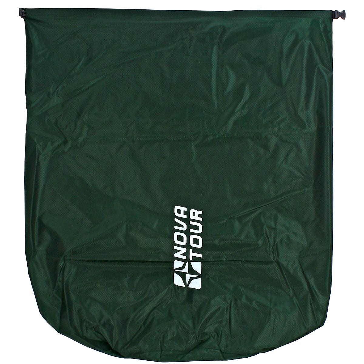 Гермомешок Nova Tour Лайтпак 100, цвет: зеленый, 100 л95154-302-00Легкий и прочный гермомешок NOVA TOUR Лайтпак 100, изготовленный из водонепроницаемого нейлона, это надежная защита рюкзака от непогоды. Гермомешок - это 100% защита ваших вещей от воды. Легкий и компактный, он складывается в специальную упаковку, которая легко крепится на любую стропу рюкзака. Все швы гермомешка проклеены. Материал мешка: 100% водонепроницаемый нейлон. Материал застежек: технический пластик Duraflex. Объем: 100 л. Размеры мешка в разложенном виде (ДхШ): 96 см х 78 см.