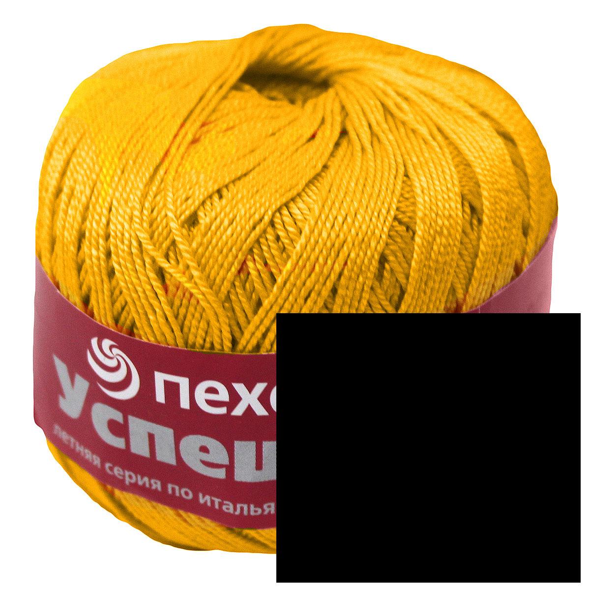 Пряжа для вязания Пехорка Успешная, цвет: черный (02), 220 м, 50 г, 10 шт360068_02_02-ЧерныйПряжа для вязания Пехорка Успешная изготовлена из 100% мерсеризованного хлопка. Пряжа, прошедшая обработку под названием мерсеризация, приобретает блеск, ее легко окрасить в яркие устойчивые цвета. Мерсеризованный хлопок мягкий и шелковистый, он хорошо впитывает влагу. Изделия из такой пряжи меньше мнутся при носке и не садятся при стирке. Связанный трикотаж получается теплый, добротный, мягкий и красивый. С такой пряжей для ручного вязания вы сможете связать своими руками необычные и красивые вещи. Рекомендуются спицы и крючок для вязания 3 мм. Толщина нити: 1 мм. Состав: 100% мерсеризованный хлопок.