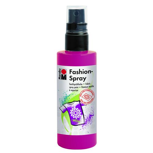 Краска-спрей для текстиля Marabu Fashion Spray, цвет: raspberry / малиновый (005), 100 мл546630_005Краска-спрей для текстиля Marabu Fashion Spray, изготовлена на водной основе, подходит для светлой, очищенной от аппретуры и смягчителя ткани, а также для натуральных тканей, вискозы, смешанных тканей с содержанием синтетических волокон до 20%. Закрепляется краска-спрей с помощью утюга. С краской для текстиля Marabu Fashion Spray вы сможете оригинально и красиво украсить любой текстиль. Время высыхания 6 часов. Рекомендуется стирать и гладить с изнаночной стороны.