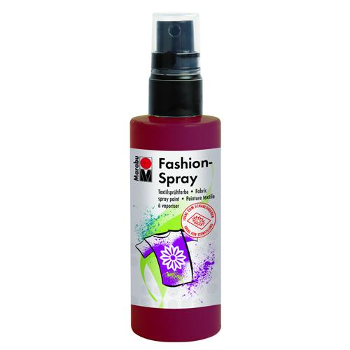 Краска-спрей для текстиля Marabu Fashion Spray, цвет: бордо (034), 100 мл546630_034Краска-спрей для текстиля Marabu Fashion Spray на водной основе подходит для светлой, очищенной от аппретуры и смягчителя ткани, а также для натуральных тканей, вискозы, смешанных тканей с содержанием синтетических волокон до 20%. Закрепляется краска-спрей с помощью утюга. С краской для текстиля Marabu Fashion Spray вы сможете оригинально и красиво украсить любой текстиль. Время высыхания 6 часов. Рекомендуется стирать и гладить с изнаночной стороны.
