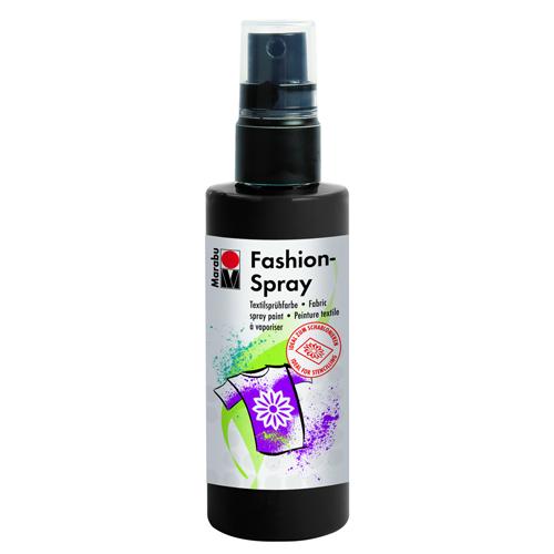 Краска-спрей для текстиля Marabu Fashion Spray, цвет: черный (073), 100 мл546630_073Краска-спрей для текстиля Marabu Fashion Spray на водной основе подходит для светлой, очищенной от аппретуры и смягчителя ткани, а также для натуральных тканей, вискозы, смешанных тканей с содержанием синтетических волокон до 20%. Закрепляется краска-спрей с помощью утюга. С краской для текстиля Marabu Fashion Spray вы сможете оригинально и красиво украсить любой текстиль. Время высыхания 6 часов. Рекомендуется стирать и гладить с изнаночной стороны.