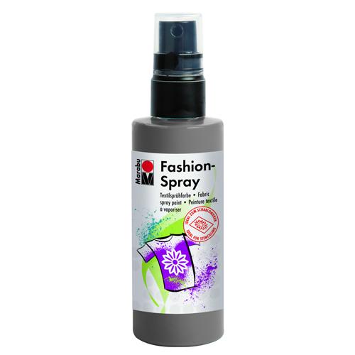 Краска-спрей для текстиля Marabu Fashion Spray, цвет: grey / серый (078), 100 мл546630_078Краска-спрей для текстиля Marabu Fashion Spray, изготовлена на водной основе, подходит для светлой, очищенной от аппретуры и смягчителя ткани, а также для натуральных тканей, вискозы, смешанных тканей с содержанием синтетических волокон до 20%. Закрепляется краска-спрей с помощью утюга. С краской для текстиля Marabu Fashion Spray вы сможете оригинально и красиво украсить любой текстиль. Время высыхания 6 часов. Рекомендуется стирать и гладить с изнаночной стороны.