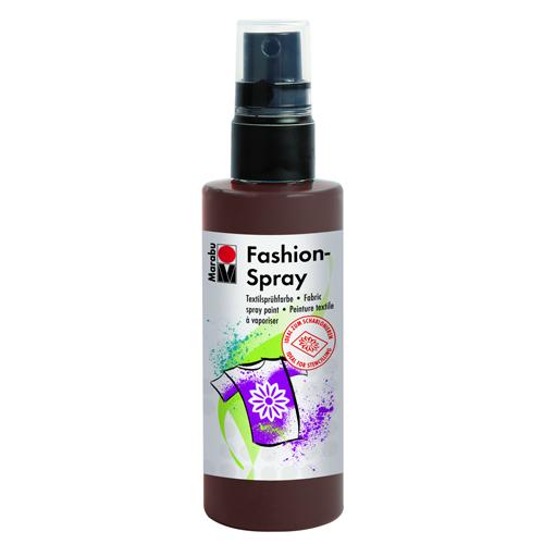 Краска-спрей для текстиля Marabu Fashion Spray, цвет: cocoa / коричневый (295), 100 мл546630_295Краска-спрей для текстиля Marabu Fashion Spray, изготовлена на водной основе, подходит для светлой, очищенной от аппретуры и смягчителя ткани, а также для натуральных тканей, вискозы, смешанных тканей с содержанием синтетических волокон до 20%. Закрепляется краска-спрей с помощью утюга. С краской для текстиля Marabu Fashion Spray вы сможете оригинально и красиво украсить любой текстиль. Время высыхания 6 часов. Рекомендуется стирать и гладить с изнаночной стороны.