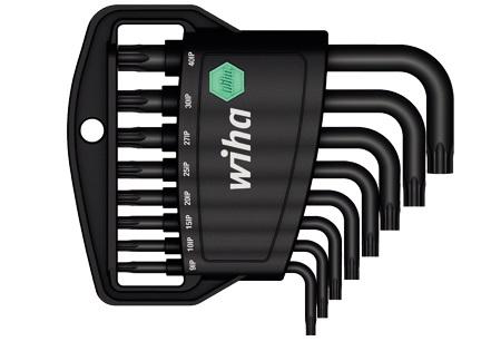 Набор ключей TORX PLUS коротких SB361IP H8, 8 предметов Wiha 3645636456Набор ключей Wiha Torx Plus предназначен для винтов с профилем TORX. Угловые ключи удобны при работе в малодоступных местах. Особенности ключей: Хромванадиевая сталь, полная закалка, марганцевое фосфатирование. Для всех работ с винтами Torx Plus. MagicSpring из высококачественной стали крепко удерживает винты Torx Plus в любом положении. Распространенные размеры ключей удобно хранятся в держателе. Простое и быстрое обращение благодаря четкой точке упора для штифтовых ключей. В набор входят ключи: T9IP, T10IP, T15IP, T20IP, T25IP, T30IP, T40IP.