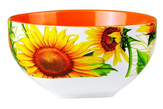 Салатник Shenzhen Xin Tianli Подсолнухи, цвет: оранжевый, желтый, 510 млSXT M15-12Салатник Shenzhen Xin Tianli Подсолнухи, изготовленный из высококачественной керамики, прекрасно впишется в интерьер вашей кухни и станет достойным дополнением к кухонному инвентарю. Салатник оформлен изображениями подсолнухов. Такой салатник не только украсит ваш кухонный стол и подчеркнет прекрасный вкус хозяйки, но и станет отличным подарком. Можно использовать в посудомоечной машине и микроволновой печи.