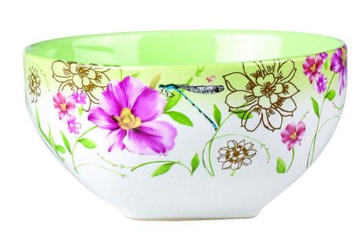 Салатник Цветок, цвет: белый, зеленый, 510 млSXT M15-11Салатник Цветок изготовлен из высококачественной керамики и декорирован цветочным рисунком. Он прекрасно впишется в интерьер вашей кухни и станет достойным дополнением к кухонному инвентарю. Такой салатник не только украсит ваш кухонный стол и подчеркнет прекрасный вкус хозяйки, но и станет отличным подарком.