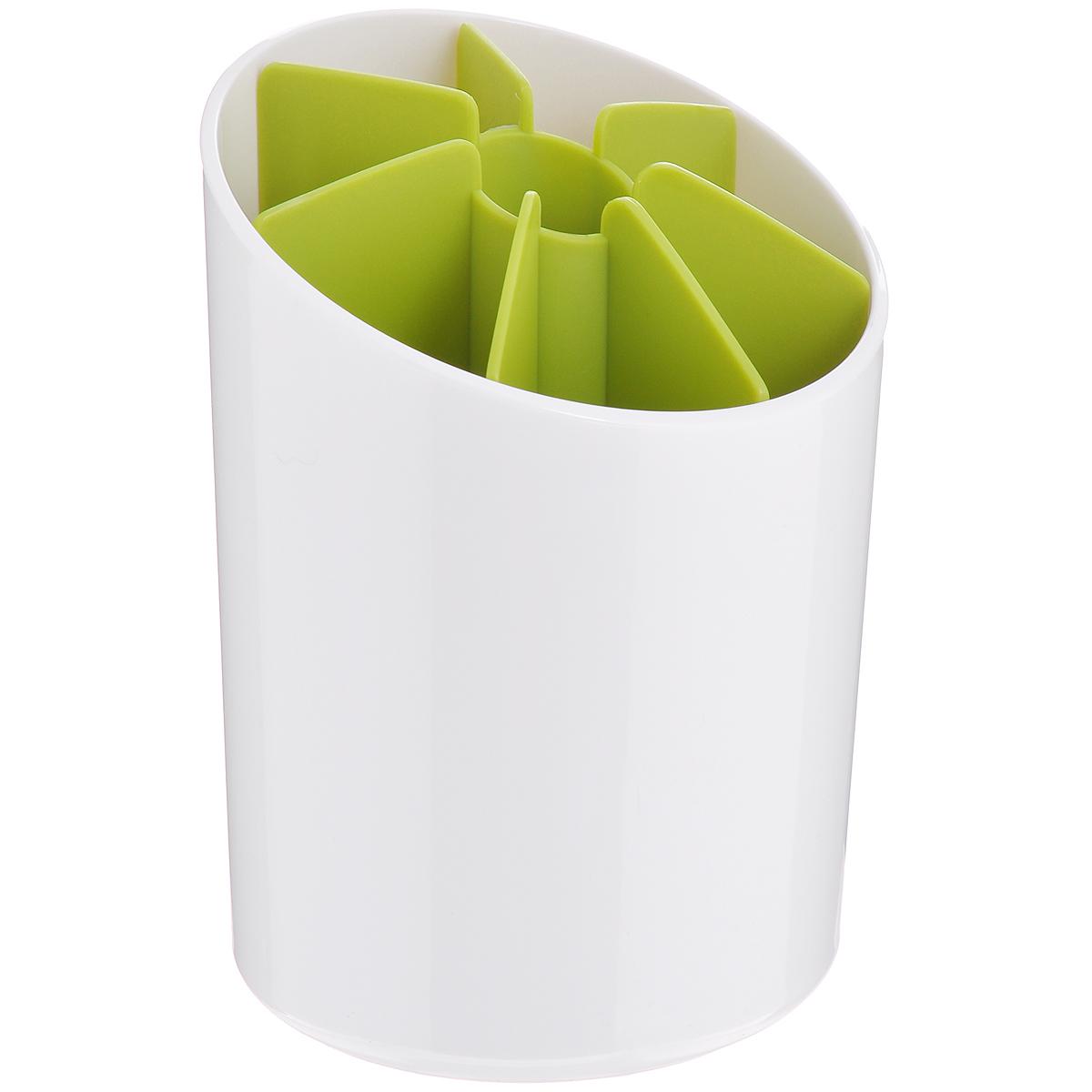 Подставка для столовых приборов Joseph Joseph Segment, цвет: белый, зеленый, высота 19 см85031