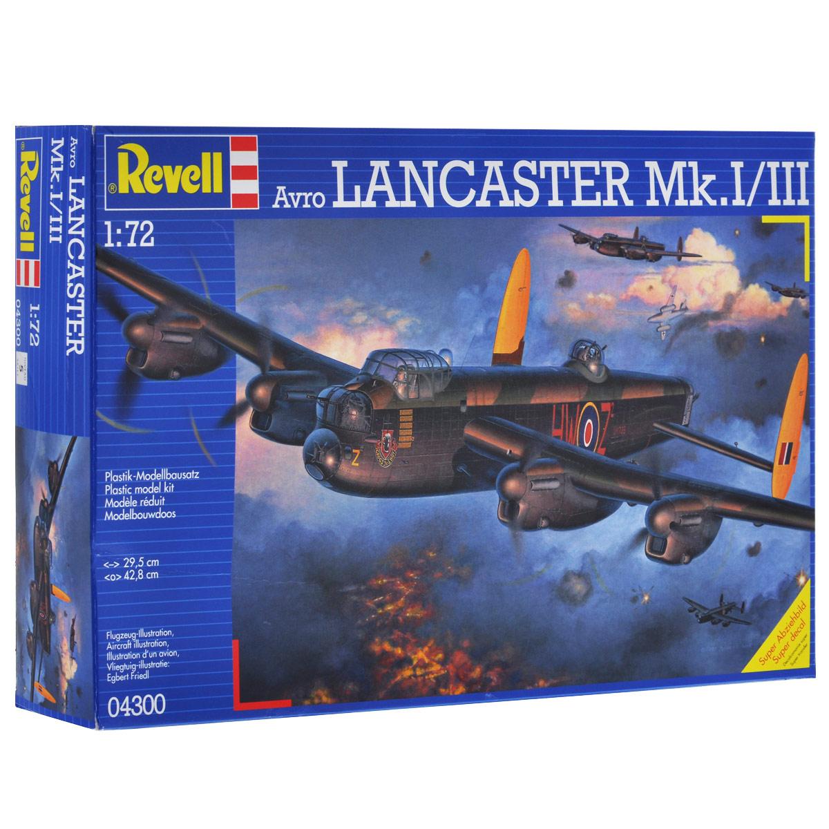 Сборная модель Revell Самолет Avro Lancaster Mk. I/III4300Сборная модель Revell Самолет Avro Lancaster Mk. I/III поможет вам и вашему ребенку придумать увлекательное занятие на долгое время. Набор включает в себя 257 пластиковых элементов, из которых можно собрать достоверную уменьшенную копию одноименного британского тяжелого бомбардировщика. Во время Второй мировой войны Avro Lancaster являлся одним из основных бомбардировщиков ВВС Великобритании. Самолеты данного типа совершили более 150 тысяч боевых вылетов. Всего ими было сброшено около 600 тысяч тонн бомб. Известность самолету принесла операция против немецких плотин в Руре, в которой были задействованы эти машины. Всего было произведено 7377 экземпляров. В ряде стран самолет состоял на вооружении до 1963 года. Также в наборе схематичная инструкция по сборке. Процесс сборки развивает интеллектуальные и инструментальные способности, воображение и конструктивное мышление, а также прививает практические навыки работы со схемами и чертежами. Уровень сложности: 5. ...