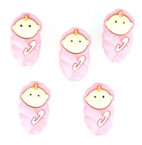 Пуговицы декоративные Dress It Up Малышки, 5 шт. 77020637702063Набор Dress It Up Малышки состоит из 5 декоративных пуговиц, выполненных из пластика в форме младенцев. Такие пуговицы подходят для любых видов творчества: скрапбукинга, декорирования, шитья, изготовления кукол, а также для оформления одежды. С их помощью вы сможете украсить открытку, фотографию, альбом, подарок и другие предметы ручной работы. Пуговицы разных цветов имеют оригинальный и яркий дизайн.