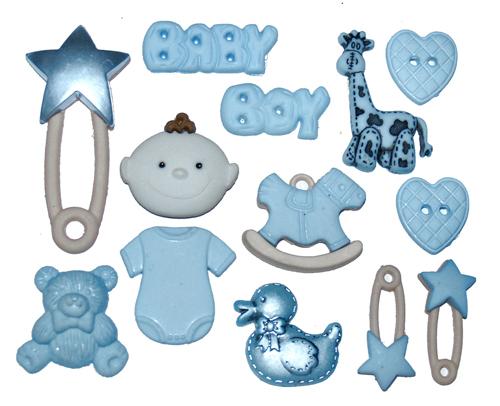 Набор пуговиц и фигурок Dress It Up Малыши, 13 шт. 77020647702064Набор Dress It Up Малыши состоит из 13 декоративных пуговиц и фигурок, выполненных из пластика в форме вещей, с которыми ассоциируется появление ребенка. Такие пуговицы и фигурки подходят для любых видов творчества: скрапбукинга, декорирования, шитья, изготовления кукол, а также для оформления одежды. С их помощью вы сможете украсить открытку, фотографию, альбом, подарок и другие предметы ручной работы. Пуговицы и фигурки разных цветов имеют оригинальный и яркий дизайн.