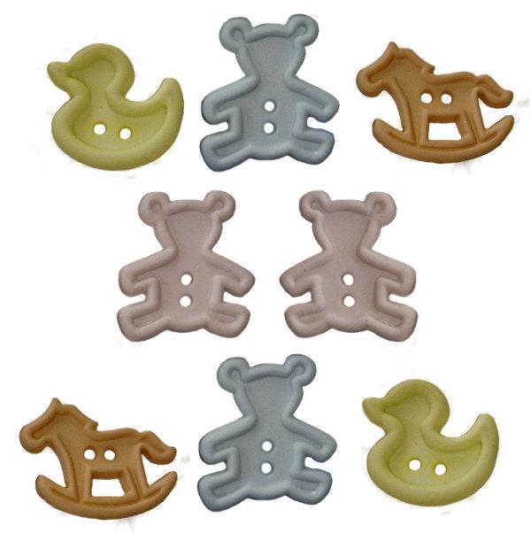 Пуговицы декоративные Dress It Up Зверюшка-игрушка, 8 шт. 77020687702068Набор Dress It Up Зверюшка-игрушка состоит из 8 декоративных пуговиц, выполненных из пластика в форме мишек, уточек и лошадок. Такие пуговицы подходят для любых видов творчества: скрапбукинга, декорирования, шитья, изготовления кукол, а также для оформления одежды. С их помощью вы сможете украсить открытку, фотографию, альбом, подарок и другие предметы ручной работы. Пуговицы разных цветов имеют оригинальный и яркий дизайн.