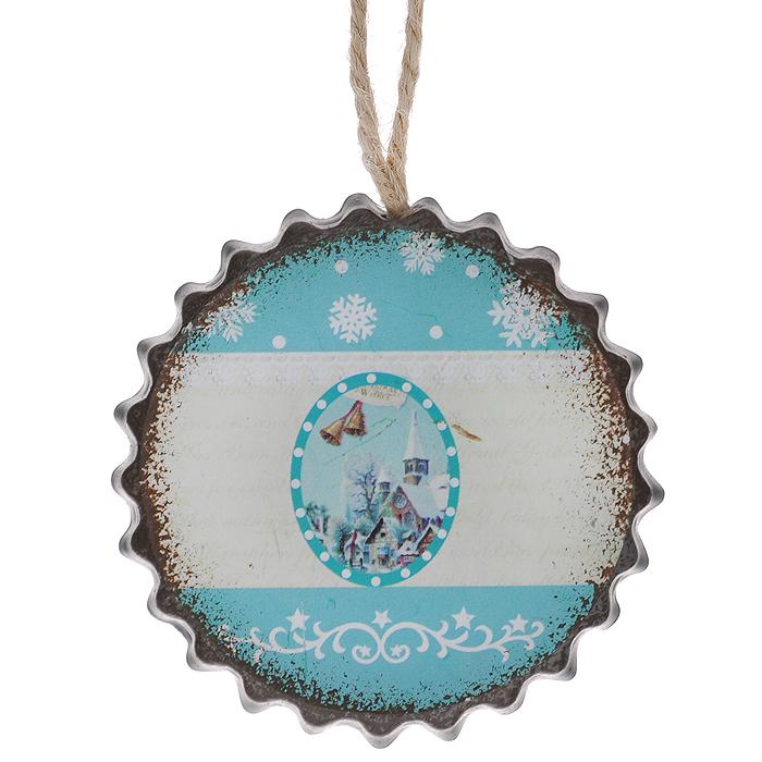 Новогоднее подвесное украшение Снежный дом. 3529035290Оригинальное новогоднее украшение из пластика прекрасно подойдет для праздничного декора дома и новогодней ели. Изделие крепится на елку с помощью металлического зажима.
