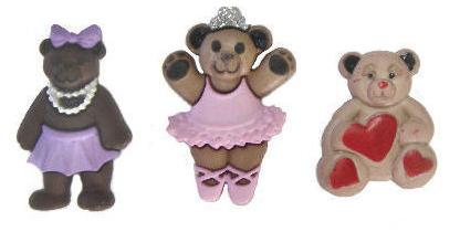 Пуговицы декоративные Dress It Up Забавные мишки, 3 шт. 77020977702097