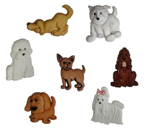 Пуговицы декоративные Dress It Up Щенок, 7 шт. 77021197702119Набор Dress It Up Щенок состоит из 7 декоративных пуговиц, выполненных из пластика в форме собак. Такие пуговицы подходят для любых видов творчества: скрапбукинга, декорирования, шитья, изготовления кукол, а также для оформления одежды. С их помощью вы сможете украсить открытку, фотографию, альбом, подарок и другие предметы ручной работы. Пуговицы разных цветов имеют оригинальный и яркий дизайн.