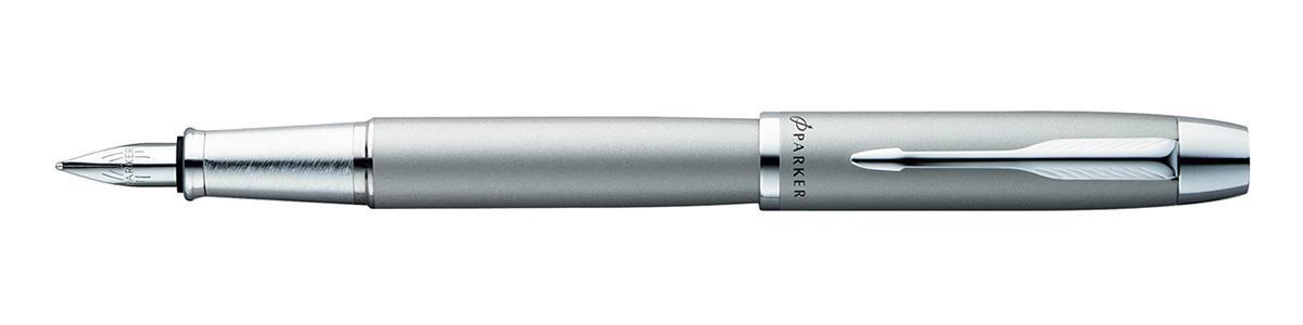 Перьевая ручка Parker IM METAL. Серебро. Детали дизайна: хром Перо - сталь.