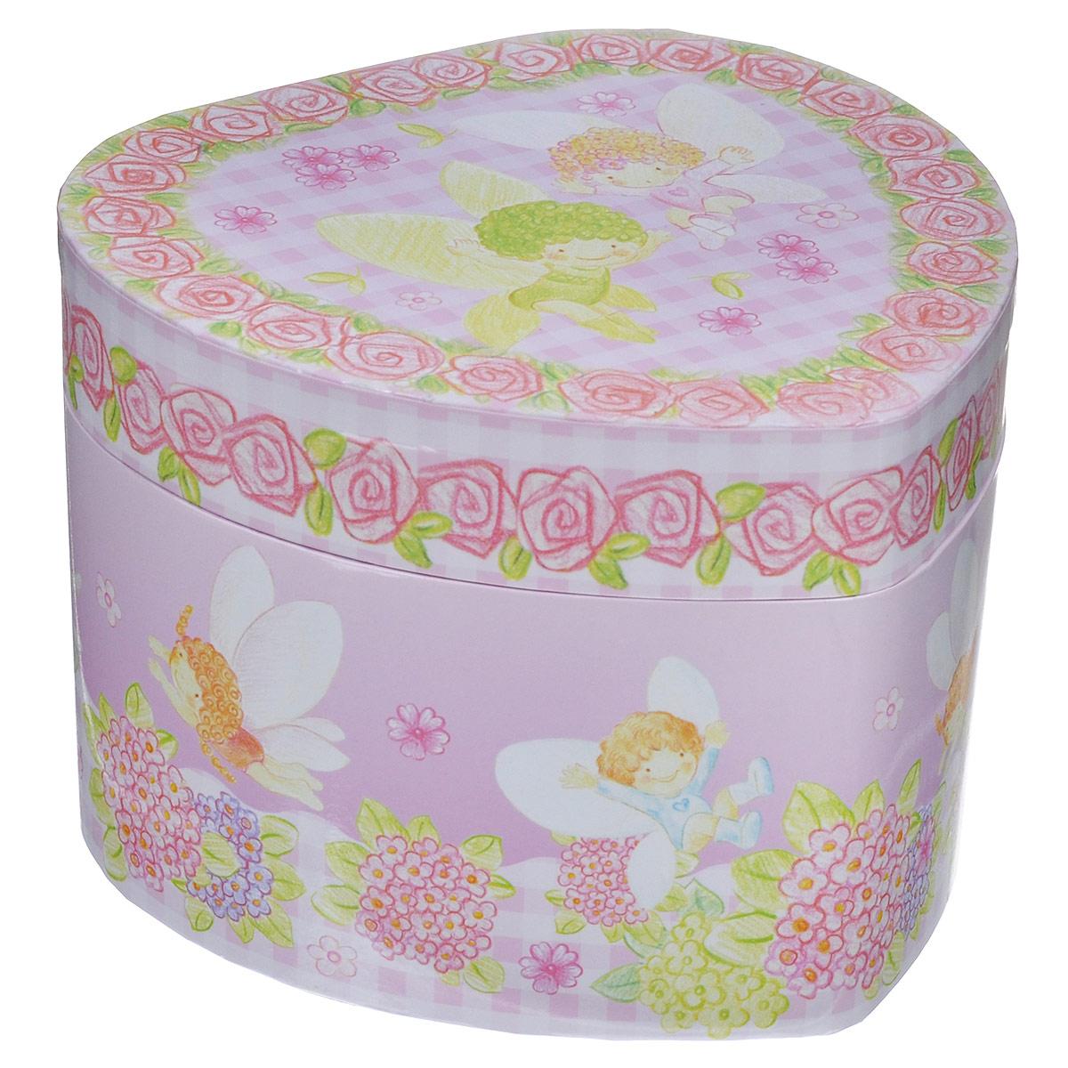 Музыкальная шкатулка Jakos Ангелочки, цвет: розовый