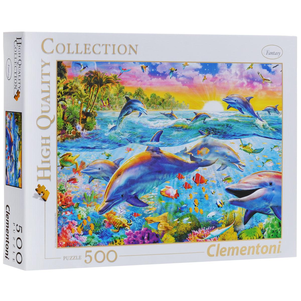Тропические дельфины. Пазл, 500 элементов30170Пазл Тропические дельфины, без сомнения, придется вам по душе. Собрав этот пазл, включающий в себя 500 элементов, вы получите великолепную картину британского художника цифровой живописи с изображением дельфинов, раскрывающую перед зрителем все волшебство подводного мира тропиков. Пазлы - прекрасное антистрессовое средство для взрослых и замечательная развивающая игра для детей. Собирание пазла развивает у ребенка мелкую моторику рук, тренирует наблюдательность, логическое мышление, знакомит с окружающим миром, с цветом и разнообразными формами, учит усидчивости и терпению, аккуратности и вниманию. Собирание пазла - прекрасное времяпрепровождение для всей семьи.