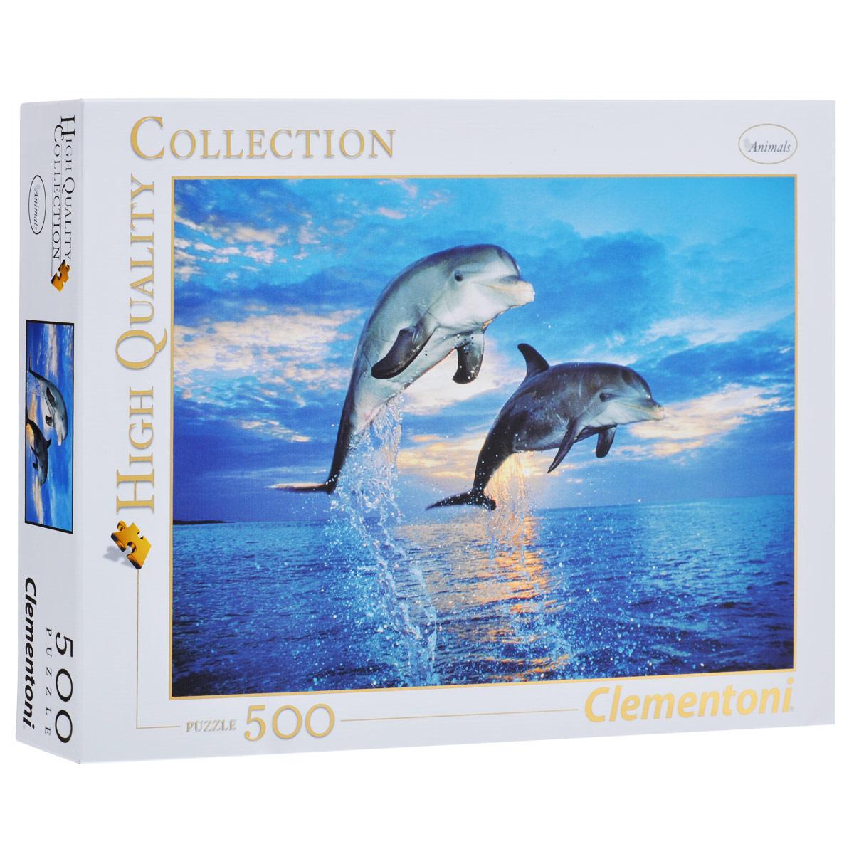 Два дельфина. Пазл, 500 элементов30139Пазл Два дельфина, без сомнения, придется вам по душе. Собрав этот пазл, включающий в себя 500 элементов, вы получите великолепную картину с изображением двух дельфинов в прыжке. Пазлы - прекрасное антистрессовое средство для взрослых и замечательная развивающая игра для детей. Собирание пазла развивает у ребенка мелкую моторику рук, тренирует наблюдательность, логическое мышление, знакомит с окружающим миром, с цветом и разнообразными формами, учит усидчивости и терпению, аккуратности и вниманию. Собирание пазла - прекрасное времяпрепровождение для всей семьи.