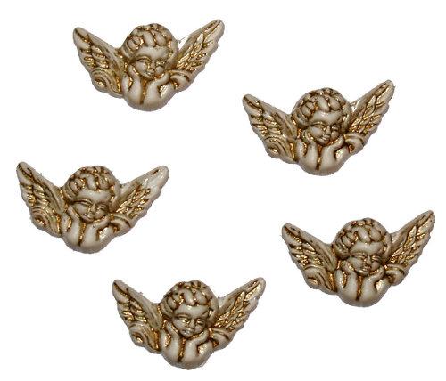 Пуговицы декоративные Dress It Up Ангелы, 5 шт. 77023247702324Набор Dress It Up Ангелы состоит из 5 декоративных пуговиц, выполненных из пластика в форме ангелов. Такие пуговицы подходят для любых видов творчества: скрапбукинга, декорирования, шитья, изготовления кукол, а также для оформления одежды. С их помощью вы сможете украсить открытку, фотографию, альбом, подарок и другие предметы ручной работы. Пуговицы разных цветов имеют оригинальный и яркий дизайн.