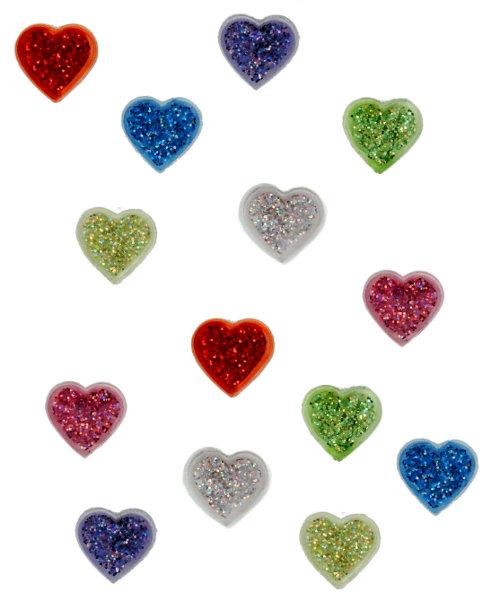 Пуговицы декоративные Dress It Up Сердечки, 12 шт. 77023467702346Набор Dress It Up Сердечки состоит из 12 пуговиц, выполненных из пластика в виде блестящих сердец. Такие изделия подходят для любых видов творчества: скрапбукинга, декорирования, шитья, изготовления кукол, а также для оформления одежды. С их помощью вы сможете украсить открытку, фотографию, альбом, подарок и другие предметы ручной работы.