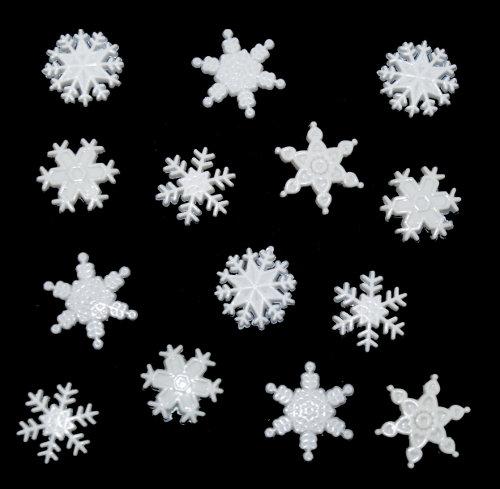 Пуговицы декоративные Dress It Up Снег, 13 шт. 77024837702483Набор Dress It Up Снег состоит из 13 пуговиц, выполненных из пластика в виде снежинок. Такие изделия подходят для любых видов творчества: скрапбукинга, декорирования, шитья, изготовления кукол, а также для оформления одежды. С их помощью вы сможете украсить открытку, фотографию, альбом, подарок и другие предметы ручной работы.