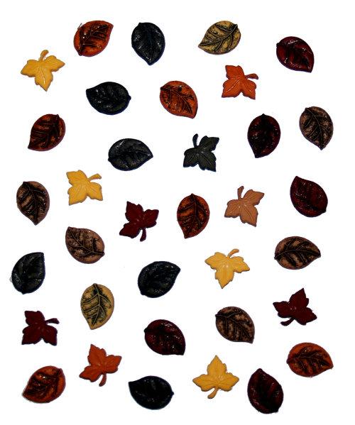 Пуговицы декоративные Dress It Up Листопад, 28 шт. 77024997702499Набор Dress It Up Листопад состоит из 28 декоративных пуговиц, выполненных из пластика в форме осенних листьев. Такие пуговицы подходят для любых видов творчества: скрапбукинга, декорирования, шитья, изготовления кукол, а также для оформления одежды. С их помощью вы сможете украсить открытку, фотографию, альбом, подарок и другие предметы ручной работы. Пуговицы разных цветов имеют оригинальный и яркий дизайн.