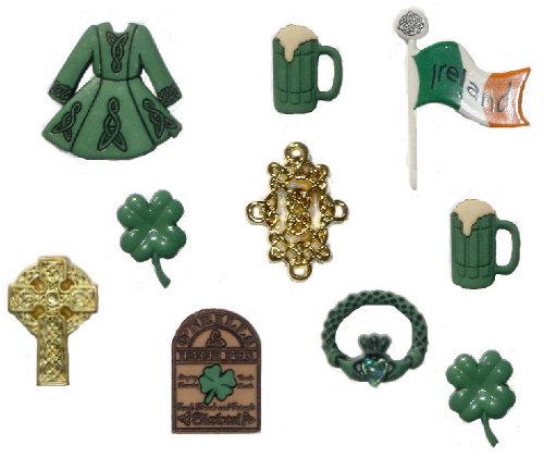 Набор пуговиц и фигурок Dress It Up Ирландия, 8 шт. 77040857704085