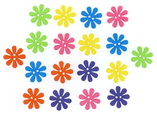 Пуговицы декоративные Dress It Up Цветик-семицветик, 15 шт. 77045687704568Набор Dress It Up Цветик-семицветик состоит из 15 декоративных пуговиц, выполненных из пластика в виде цветов. Такие пуговицы подходят для любых видов творчества: скрапбукинга, декорирования, шитья, изготовления кукол, а также для оформления одежды. С помощью них вы сможете украсить открытку, фотографию, альбом, подарок и другие предметы ручной работы. Пуговицы разных цветов имеют оригинальный и яркий дизайн.