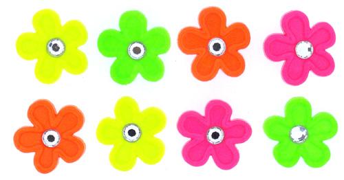 Пуговицы декоративные Dress It Up Яркие цветы, 8 шт. 77045777704577Набор Dress It Up Яркие цветы состоит из 8 декоративных пуговиц, выполненных из пластика в форме цветков. Пуговицы украшены декоративными стразами по середине. Такие пуговицы подходят для любых видов творчества: скрапбукинга, декорирования, шитья, изготовления кукол, а также для оформления одежды. С их помощью вы сможете украсить открытку, фотографию, альбом, подарок и другие предметы ручной работы. Пуговицы разных цветов имеют оригинальный и яркий дизайн.