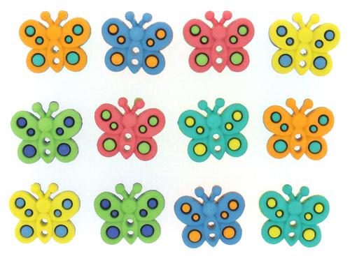 Набор фигурок Dress It Up Бабочки, 12 шт. 770457704584Набор Dress It Up Бабочки состоит из 12 декоративных разноцветных фигурок, изготовленных из пластика, с помощью которых вы сможете украсить открытку, фотографию, альбом, одежду, подарок и другие предметы ручной работы. Все предметы в наборе имеют оригинальный и яркий дизайн.