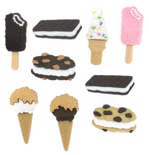 Пуговицы декоративные Dress It Up Мороженое, 9 шт. 77062877706287