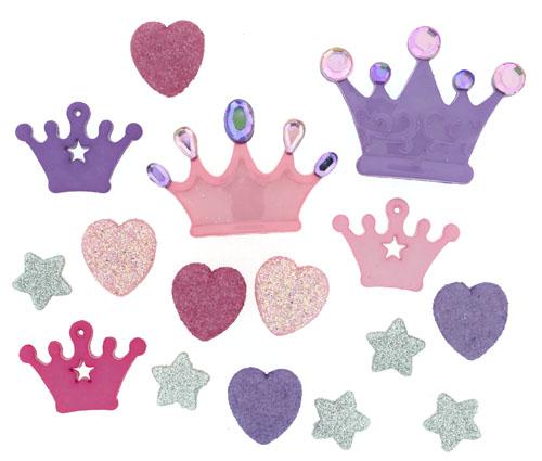 Набор пуговиц и фигурок Dress It Up Принцесса, 14 шт. 77063397706339