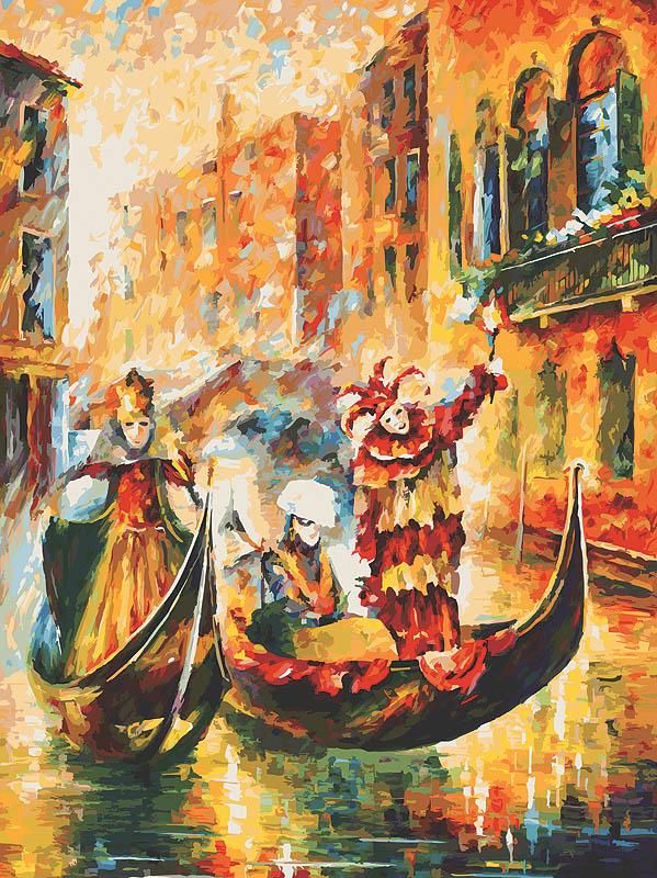 """Живопись на холсте """"Венецианская гондола"""", 60 см х 80 см ( 2010-AM Венецианская гондола )"""